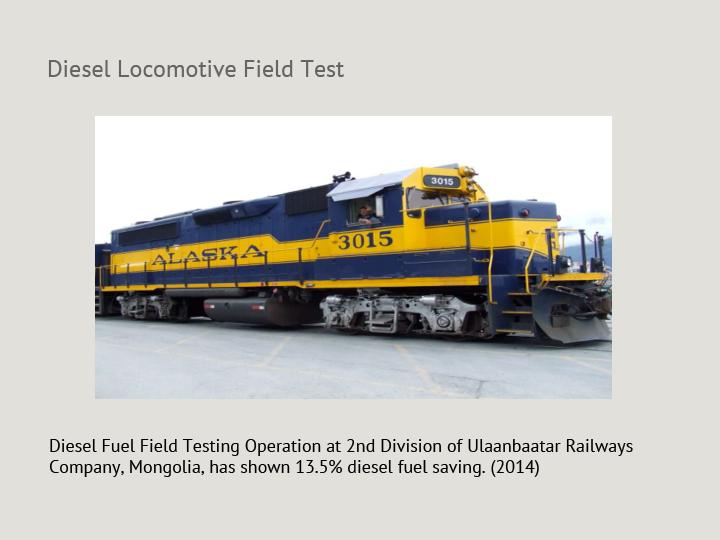 Diesel Locomotive Field Test