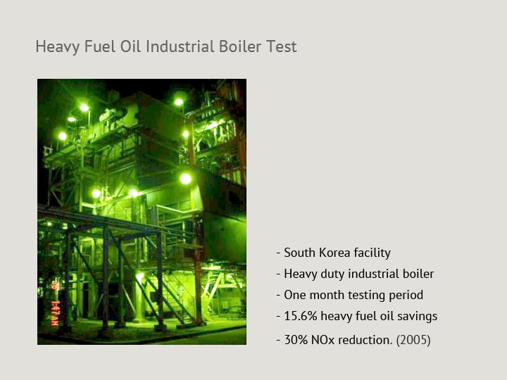 Heavy Fuel Oil Industrial Boiler Test