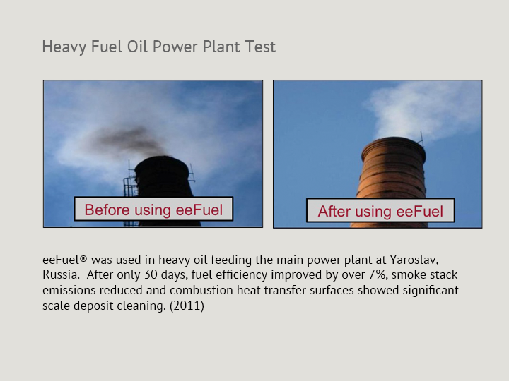 Heavy Fuel Oil Mining and Enrichment Plant Test