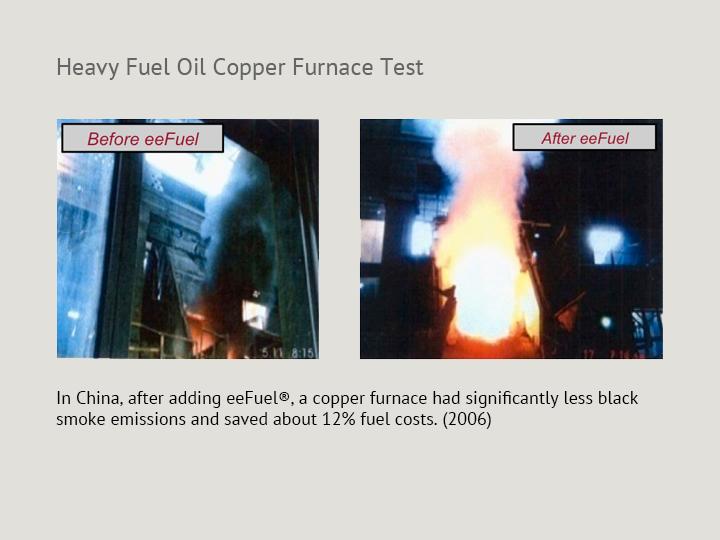 Heavy Fuel Oil Copper Furnace Test