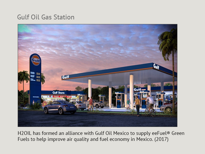 eeFuel at the Gulf Gas Pumps in Mexico